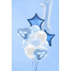 BUKIET BALONÓW VIP BABY BLUE OLBRZYM-4653