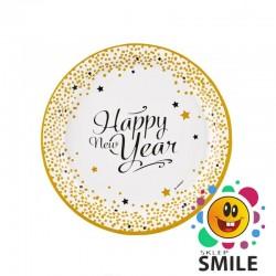 TALERZE PAPIEROWE HAPPY NEW YEAR 8 SZT.
