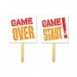 TABLICZKI NA PATYKU GAME OVER START 2 SZT. FOTOBUDKA