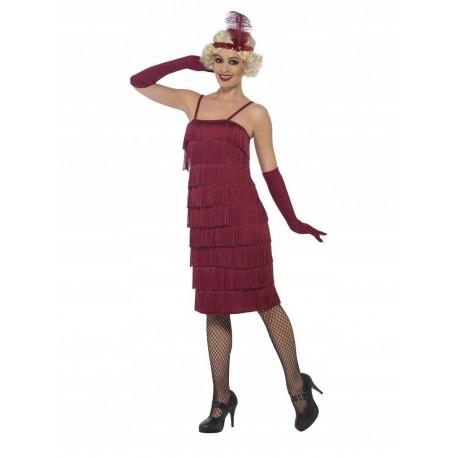80a4595f26a48d Strój sukienka flapper bordo długa xl - Sklep Smile