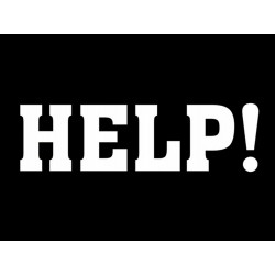 NAKLEJKI NA BUTY HELP POMOCY FOTOBUDKA 2 SZT.