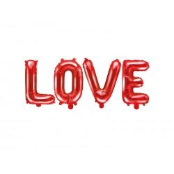 BALON FOLIOWY LOVE CZERWONY 35cm-2218