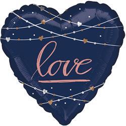 BALON FOLIOWY SERCE LOVE GRANATOWE 71cm-470