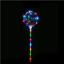 BALON FOLIOWY KULA LED TRANSPARENTNY 20cm-3825