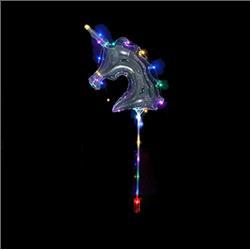 BALON FOLIOWY KUCYK LED TRANSPARENTNY 58cm-3831