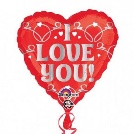 BALON FOLIOWY SERCE I LOVE YOU-3865